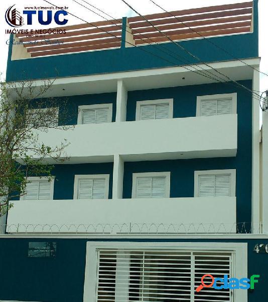 Pronto p/ morar cobertura s/condomínio c/02 dorm, 1 vg em vila vitoria -s.a