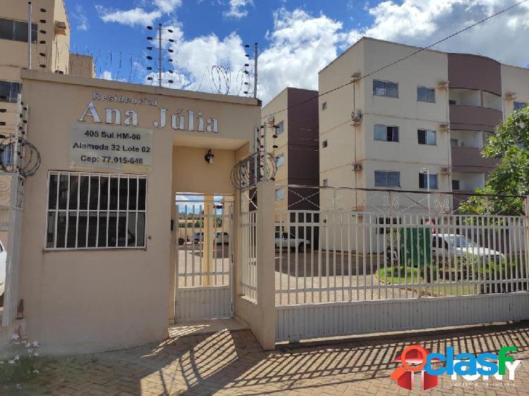 Apartamento 2 quartos, 62m², 405 sul, residencial ana júlia