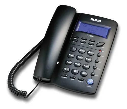 Aparelho telefonico com fio tcf-3000 c/id.chamadas elgin