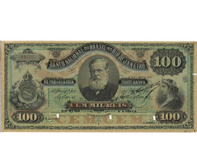 Compro notas antigas só de réis império pago até r$500