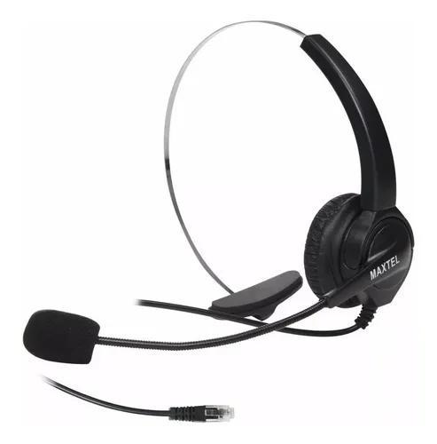 Fone Head Set Telefone Fixo Fio Maxtel Rj11 Tel