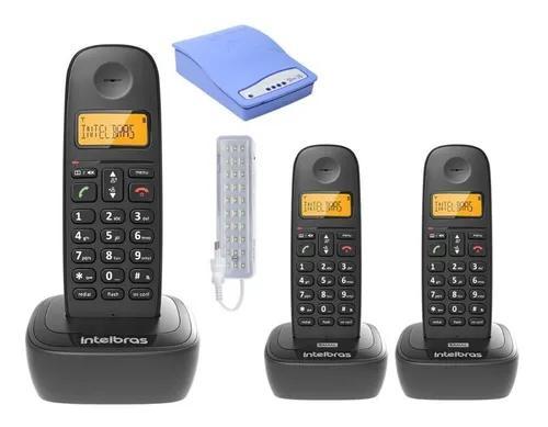 Kit aparelho telefone bina 2 ramal entrada chip celular 3g