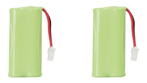 Kit com 2 bateria 2,4v 600ma p/ telefone s