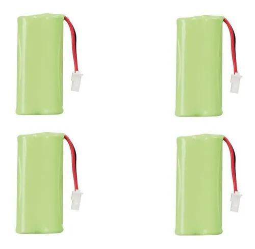 Kit com 4 bateria 2,4v 600ma p/ telefone s
