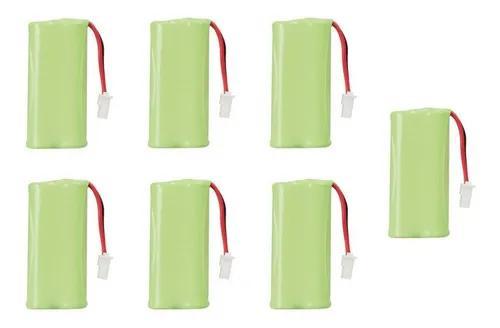 Kit com 7 bateria 2,4v 600ma p/ telefone s