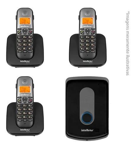 Kit interfone residencial intelbras tis 5010 3 ramal ts 5121