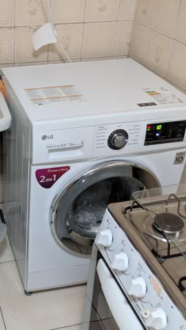Lava e seca lg mega touch 8,5kg branca 110v - urgente