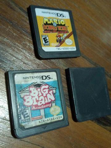 Lote três jogos nintendo ds originais