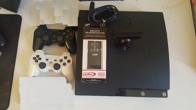 Playstation 3 slim 250gb com 12 jogos e 2 controles e