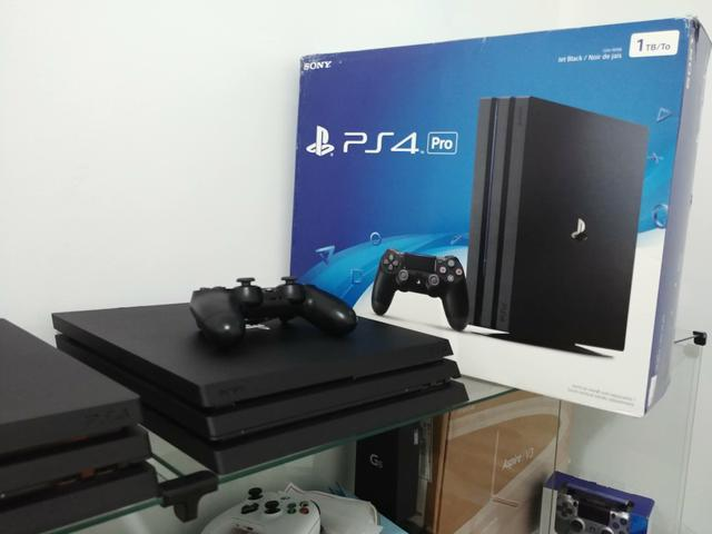 Playstation 4 ps4 pro 4k 1tb (1000gb) preto parcelo