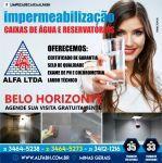 Serviços impermeabilização de caixas d'água e cisternas