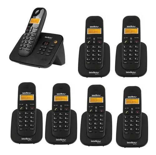 Telefone 3130 secretária e 6 ramais intelbras s