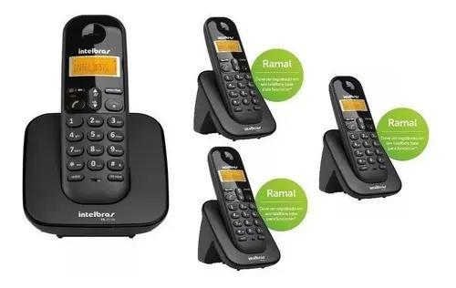 Telefone Base 3110 Com 3 Ramais 3111 Intelbras S