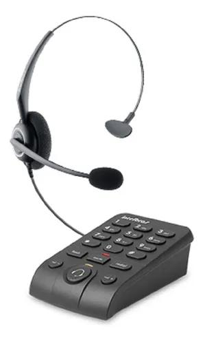 Telefone base discadora intelbras headset hsb50 tel