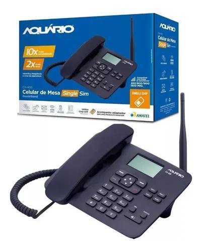 Telefone celular rural de mesa quadriband ca-40s aquário