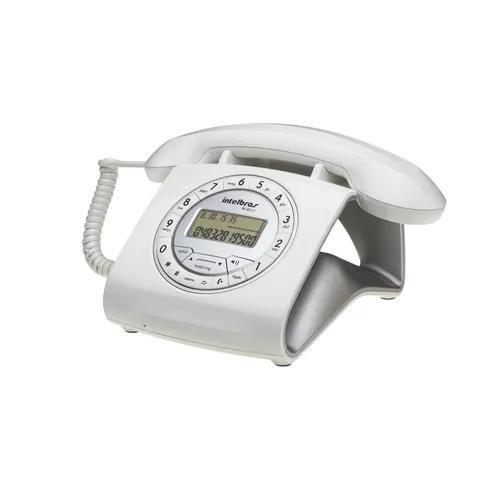 Telefone com fio e estilo retrô cor branco tc 8312