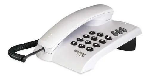 Telefone com fio pleno cinza artico