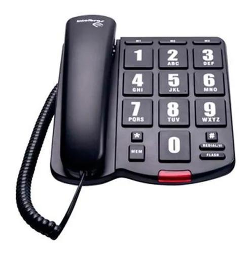 Telefone com fio tok facil intelbras novo c/ nf