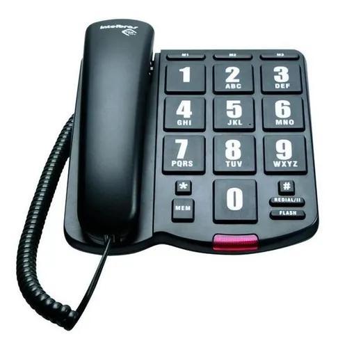 Telefone com fio tok fácil intelbras com teclas grandes