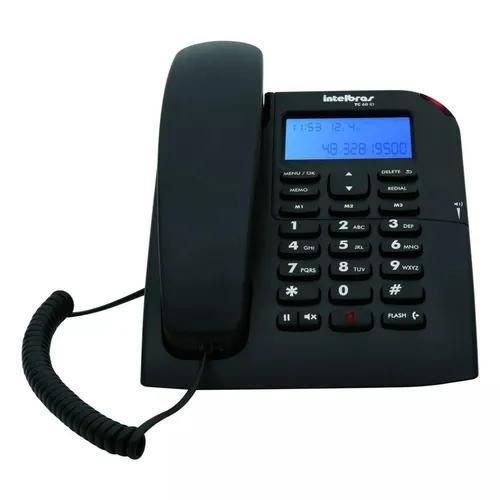 Telefone com fio viva-voz identificação de chamadas tc 60