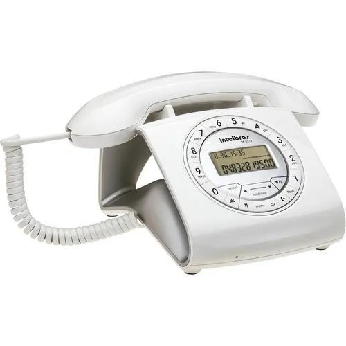 Telefone design retro c/ fio c/identificador viva voz tc8312