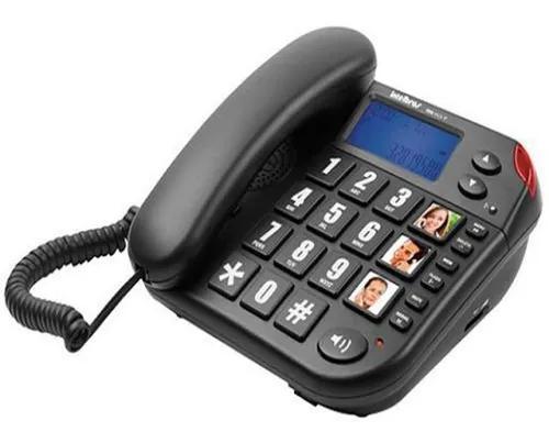 Telefone fio intelbrás tok fácil com identificador chamada