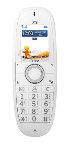 Telefone fixo 3g gsm zte wp750 novo vivo tim oi claro bco