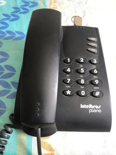 Telefone fixo com fio pleno preto intelbras usado s