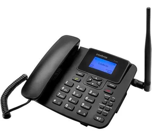 Telefone fixo intelbrás cf 6031 3g com fio e antena