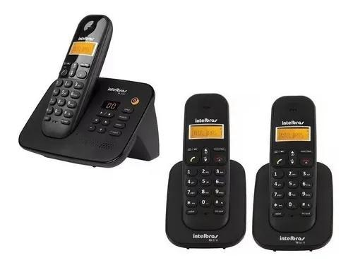 Telefone intelbras secretaria eletronica s/ fio com 2 ramais