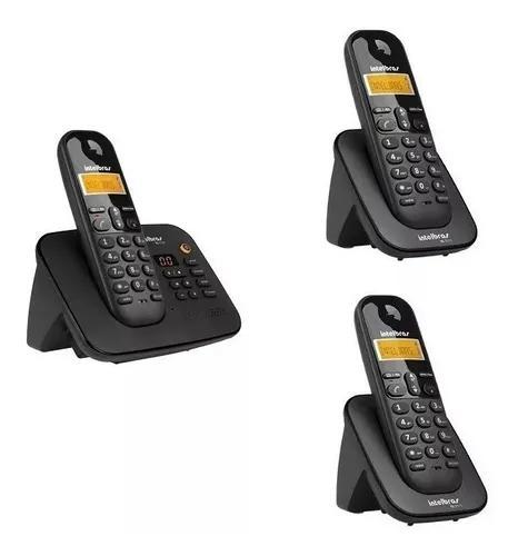 Telefone intelbras secretária eletronica com 2 ramais