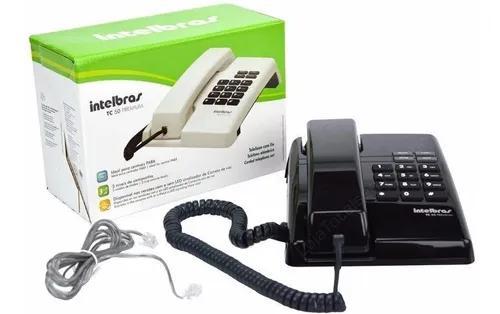 Telefone intelbras tc 50 + com fio + pr
