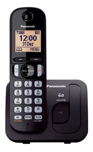 Telefone panasonic s/ fio identificador de cham kx-tgc210lbb