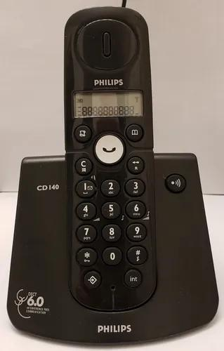 Telefone philips s/fio cd140 - display com ident. chamadas