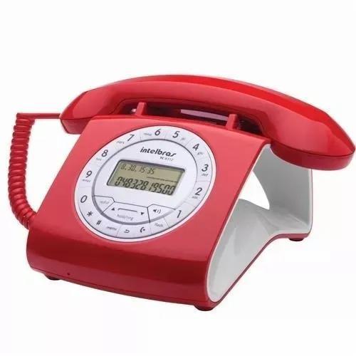 Telefone retro intelbras com fio tc8312 com viva voz