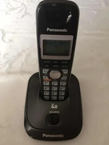 Telefone s/ fio panasonic kx- tg4011lb dect6.0 otimo estado