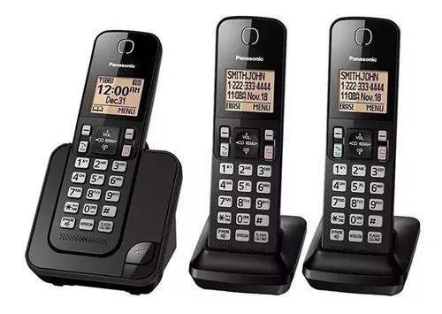Telefone s/ fio panasonic kx-tgc353 1 base+2 ramais