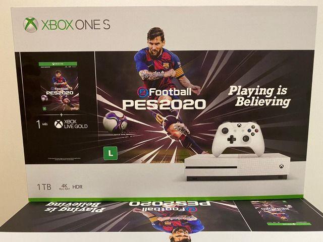 Xbox one s 1tb + pes 2020 nacional - original pronta entrega