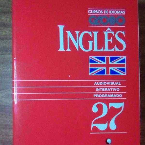 Cursos de idiomas globo inglês - 27 volumes + 27 fitas k7
