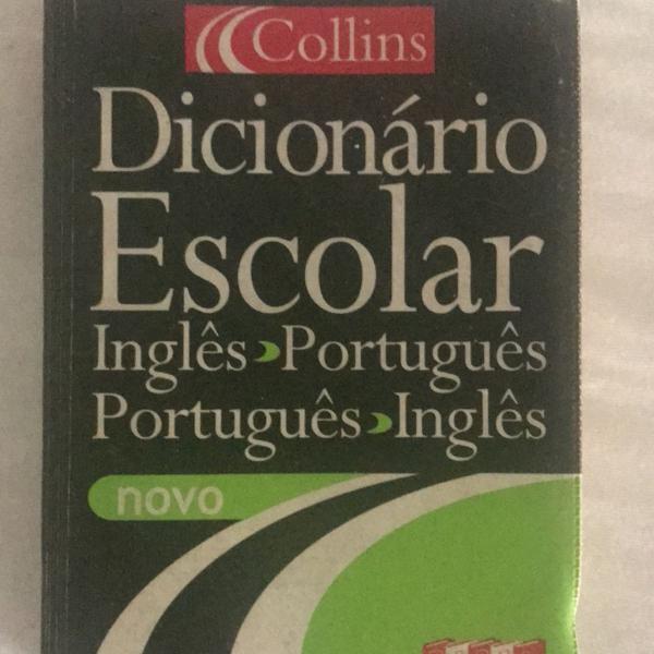 Dicionário escolar português inglês collins