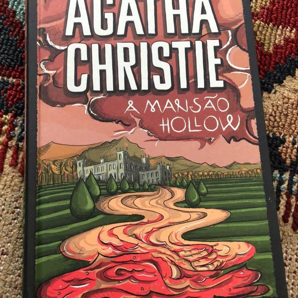 livro agatha christie a mansão hollow