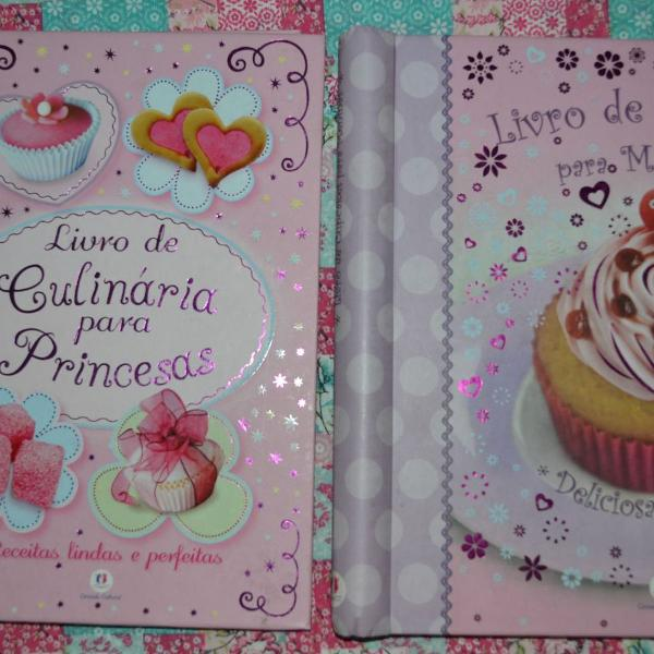 Livro culinária e cupcakes para meninas