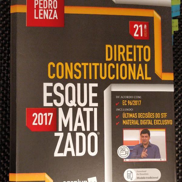 Livro direito constitucional esquematizado - pedro lenza -