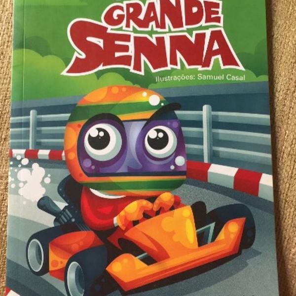 Livro infantil pequeno grande senna