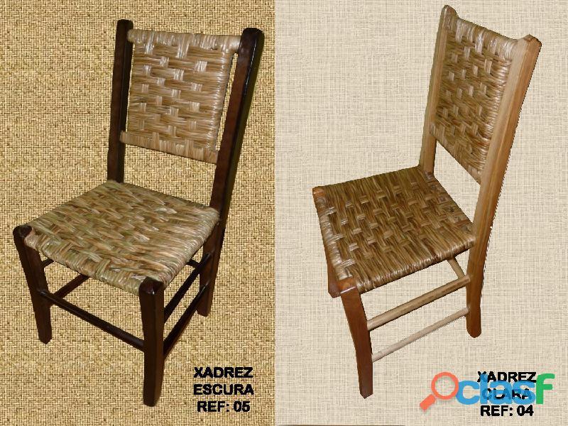 Cadeiras de palha natural