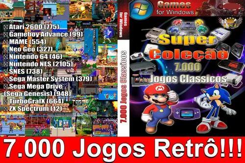 7.000 jogos retro para pc! só executar e jogar!!! envio