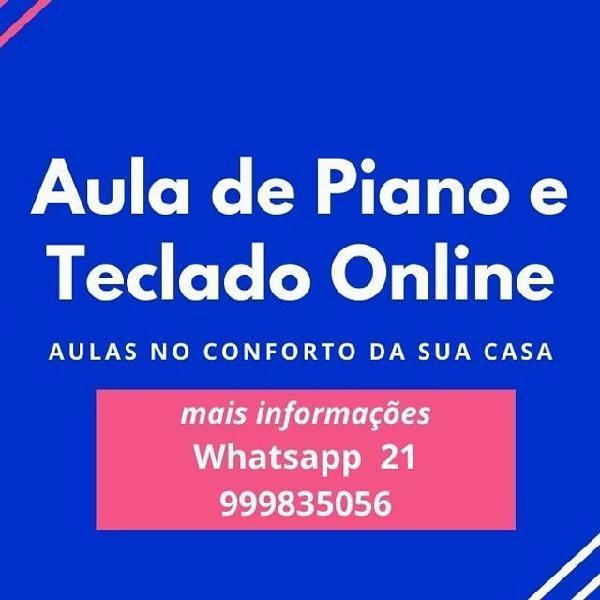 Aula piano teclado à distância on line