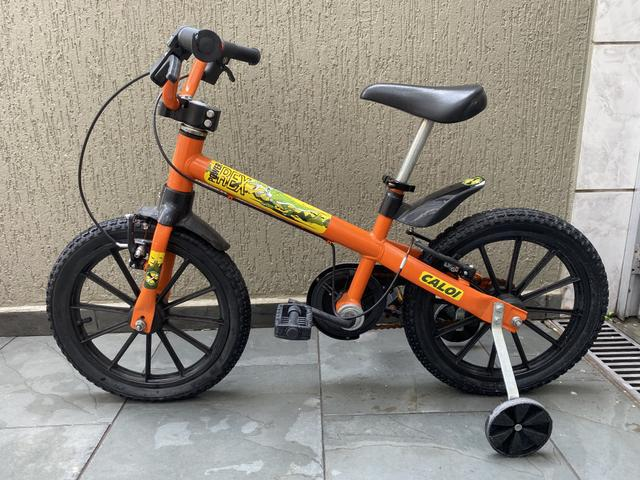 Bicicleta infantil power rex caloi aro 16 usada