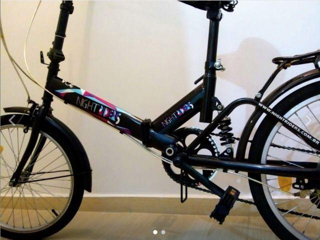 Bicicleta dobrável com 6 marchas