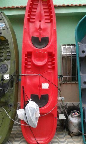 Caiaque duplo vermelho completo
